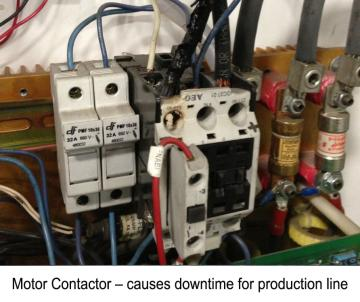 Motor Contactor Hot Spot - Problems for production Line
